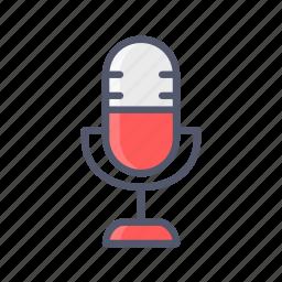mic, podecast, speak, tutorial icon