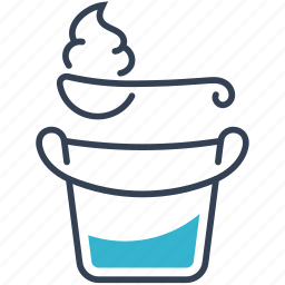 bucket, clabber, food icon