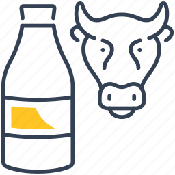 animal, curds, drink, milk icon