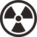 attention, burn, danger, nuclear, radiation icon