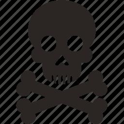 bone, danger, death, man, skull icon
