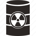 attention, barrel, burn, danger, nuclear, radiation icon