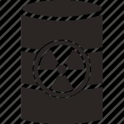 attention, barrel, burn, danger, nuclear, radiation icon