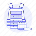 ammo, ammunition, armor, bullet, bulletproof, crime, danger, vest, weapons icon