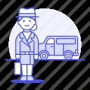 van, window, vehicle, detectives, crime, detective, danger, briefcase, investigator, mpv, female