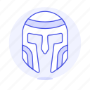 crime, danger, empire, gladiator, helmet, roman, swordsman, warrior, weapons icon