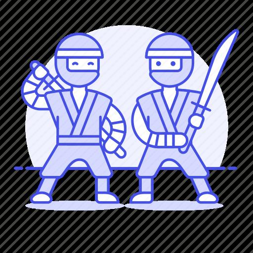 2, agent, assasin, cover, crime, danger, mercenary, ninja, ninjutsu, shinobi, sword, training icon