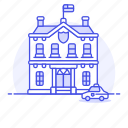 building, civil, crime, danger, department, guard, officer, police, station, vehicle icon