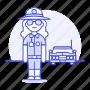 police, danger, crime, car, officer, law, enforcement, guard, civil, sheriff, female