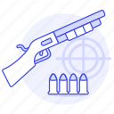 aim, ammo, ammunition, crime, danger, firearm, scattergun, shell, shotgun, slug, target, weapons