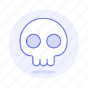 1, crime, danger, death, poison, skeleton, skull, virus icon