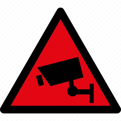attention, camera, caution, cctv, danger, hazard, warning icon