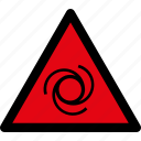 attention, automatic, danger, equipment, remotely, started, warning icon