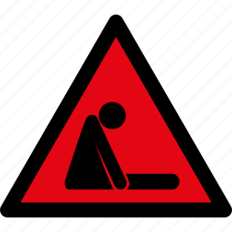 asphyxia, attention, caution, danger, hazard, infarct, tired icon