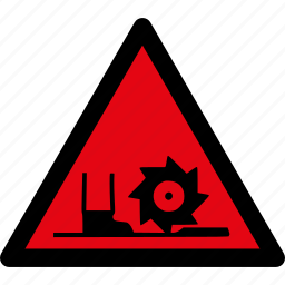 attention, auger, caution, danger, safety, saw, warning icon
