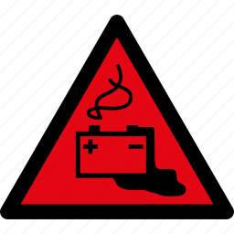accumulator, attention, battery, caution, danger, hazard, warning icon