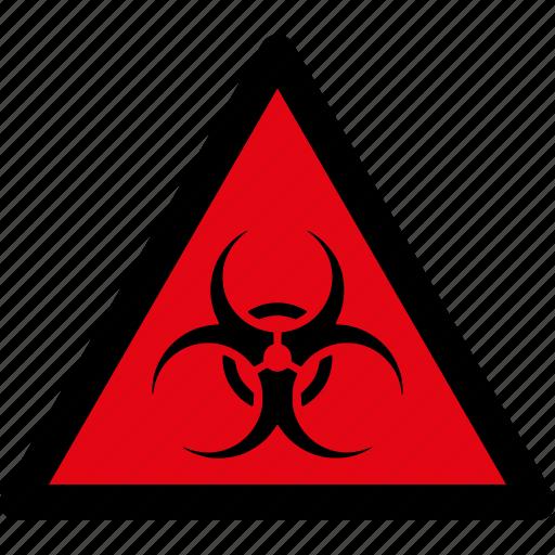 attention, bio hazard, biohazard, caution, danger, hazard, warning icon