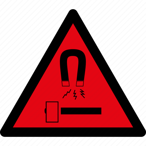 block, caution, danger, hazard, magnet, magnetic, warning icon