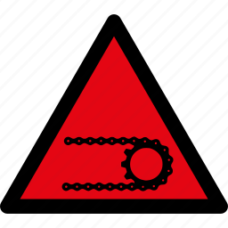 attention, caution, chain, danger, hazard, safety, warning icon