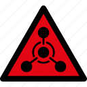 attention, caution, chemical, danger, hazard, warfare, warning icon