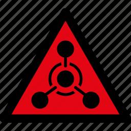 attention, caution, chemical, danger, hazard, warfare, warning icon