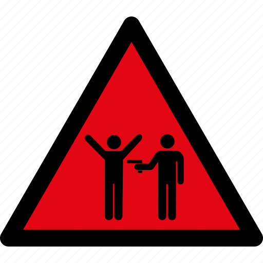attention, caution, crime, danger, hazard, robbery, warning icon