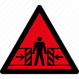 attention, caution, crushing, danger, hazard, risk, warning icon