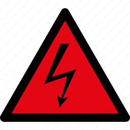 danger, electric, electricity, hazard, high voltage, shock, warning icon