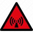 danger, electromagnetic, radiation, radio, signal, source, warning icon