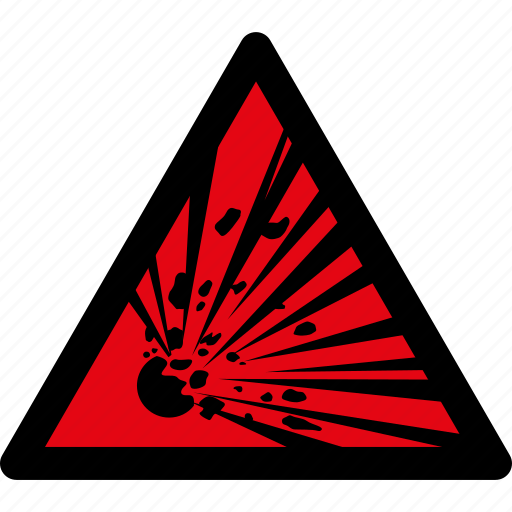 attention, caution, danger, explosion, explozive, hazard, warning icon