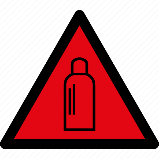 attention, bottle, caution, danger, gas, hazard, warning icon