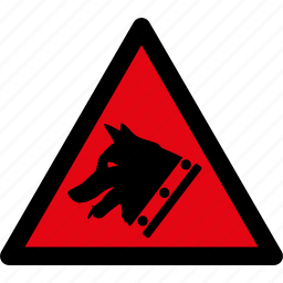 attention, caution, danger, dog, guard, hazard, warning icon