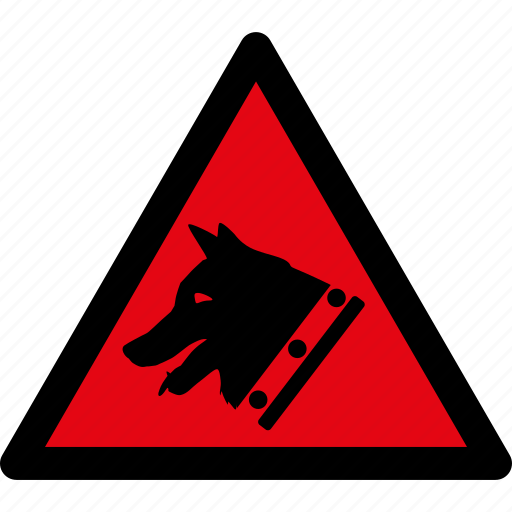 attention, caution, danger, dog, guard, hazard, warning icon