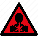 attention, caution, danger, hazard, health, sick, warning icon