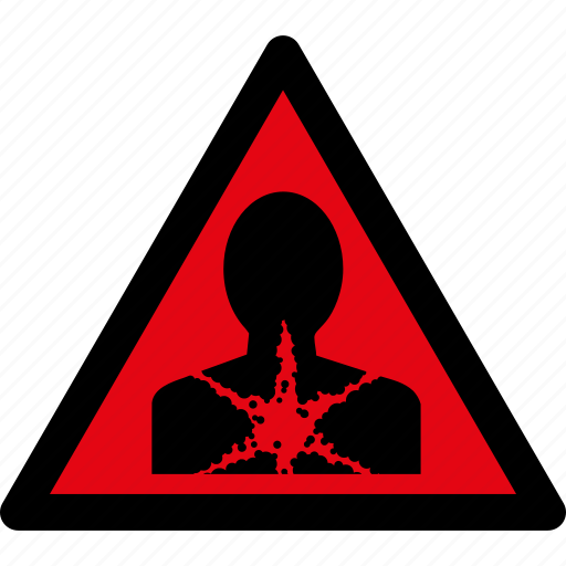 attention, caution, danger, hazard, health, sick, warning icon