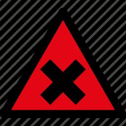 attention, caution, danger, hazard, irritating, substances, warning icon
