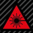 danger, laser, radiation, warning, attention, caution, hazard