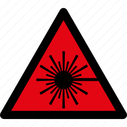 attention, caution, danger, hazard, laser, radiation, warning icon