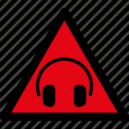 attention, caution, danger, hazard, loud, sound, warning icon