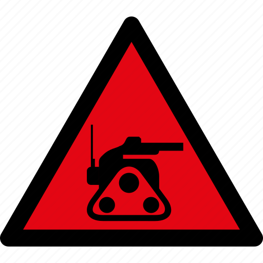 attention, caution, danger, hazard, military, robot, warning icon