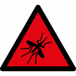 attention, caution, danger, hazard, malaria, mosquito, warning icon