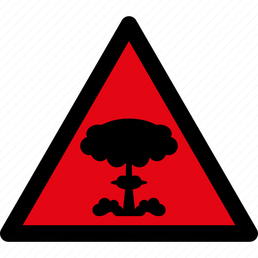 attention, caution, danger, explosion, hazard, nuclear, warning icon