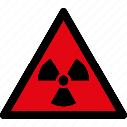attention, caution, danger, hazard, radiation, radioactive, warning icon