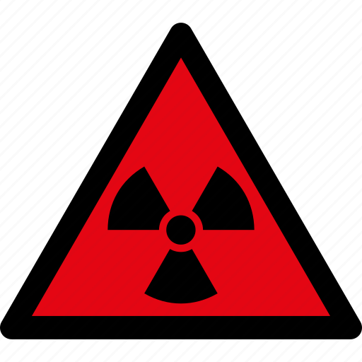 attention, caution, danger, hazard, radiation, radioactive, warning icon