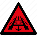 attention, caution, danger, hazard, mill, rolling, warning icon