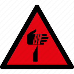attention, caution, danger, hazard, object, sharp, warning icon