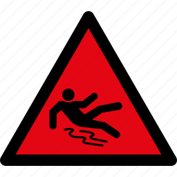 attention, caution, danger, fall, puddle, slippery, warning icon