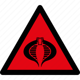 attention, caution, cobra, danger, snake, snakes, warning icon