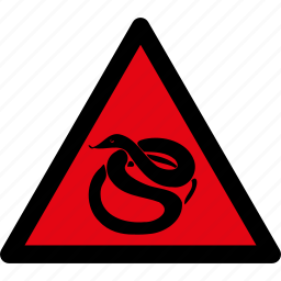 attention, caution, danger, hazard, snake, snakes, warning icon