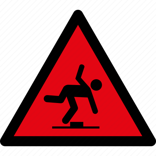 attention, caution, danger, hazard, safety, stumbling, warning icon